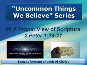 Uncommon Things We BelieveSeries #1