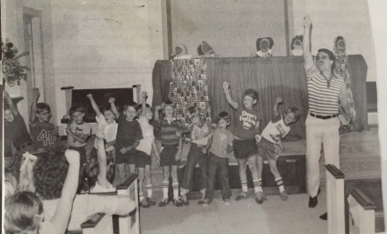I led singing at a VBS at North Boulevard congregation, which was close to our house at that time